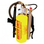 Compressed air foam (CAF) hand held back pack system