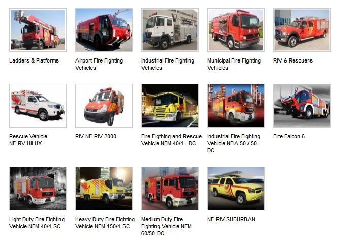 Fire Fighting Truck and Vehicles